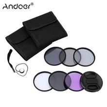 Andoer 52mm UV+CPL+FLD+ND(ND2 ND4 ND8) Photography Filter Kit Set Neutral Density Filter for Nikon Canon Sony Pentax DSLRs