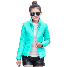 hot sale 2017 new women's jacket to keep warm in winter padded silk, ladies fashion casual Slim padded winter jacket(China)