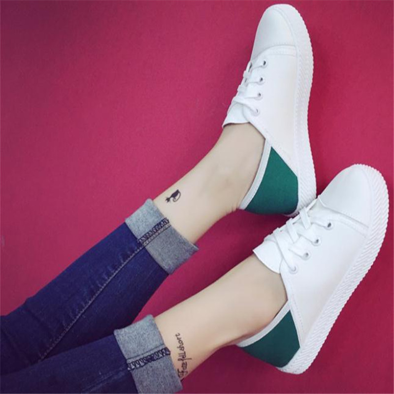 White Shoes Woman Flats Spring New canvas Shoes Woman Fashion Lace Up White Shoes Woman Flats For Ladys student shoe<br><br>Aliexpress