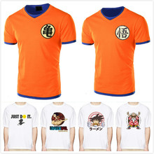 2018 Dragon Ball Camiseta Homens Verão Top Dragon Ball Z super son goku cosplay Engraçado Camisetas anime DragonBall vegeta top Tshirt(China)
