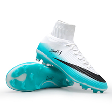 Hot Sale Men Soccer Shoes High Ankle Superfly Boots FG Football Boots Original Professional Kids Cleats Multicolor Wholesale(China)