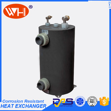 WHC-10.0ERL titanium shell and tube heat exchanger for pool,plastic swimming pool heat exchanger