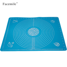 50*40 Large Square Massive Pastry Fondant Silicone Work Rolling Baking Mat With Measurements Rolling Cut Mat 01088