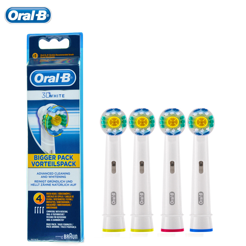Oral B Replacements Heads for Electroc Toothbrush EB18-4 Rotation Brush Head 3D White <br>