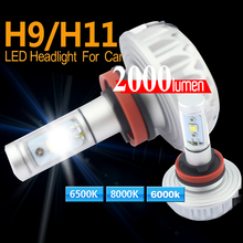 2016 Brand New High-quality 2pcs 3S H8/H11 2 40W LED 4000LM KIT BULB DUAL BEAM HEADLIGHT White LAMP DC12-24V for Toyota(China)