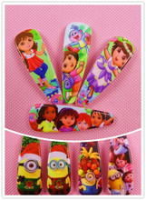 4 Pcs=1Lot Christmas Minions Dora princess BB Hairpin Cute Hair Clips Kid Hair Accessories Bob Rim Hairgrip Hair Bows Scrunchy 4