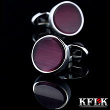 KFLK jewelry shirt cufflinks for mens Brand cuff buttons cuff links Wedding gemelos High Quality abotoaduras Free Shipping(China)