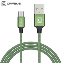 Cafele 1.8m/1.2m Original Micro USB Cable Nylon Braided Tangle-Free Charging Cable for Android Samsung HTC Nokia Sony(China)