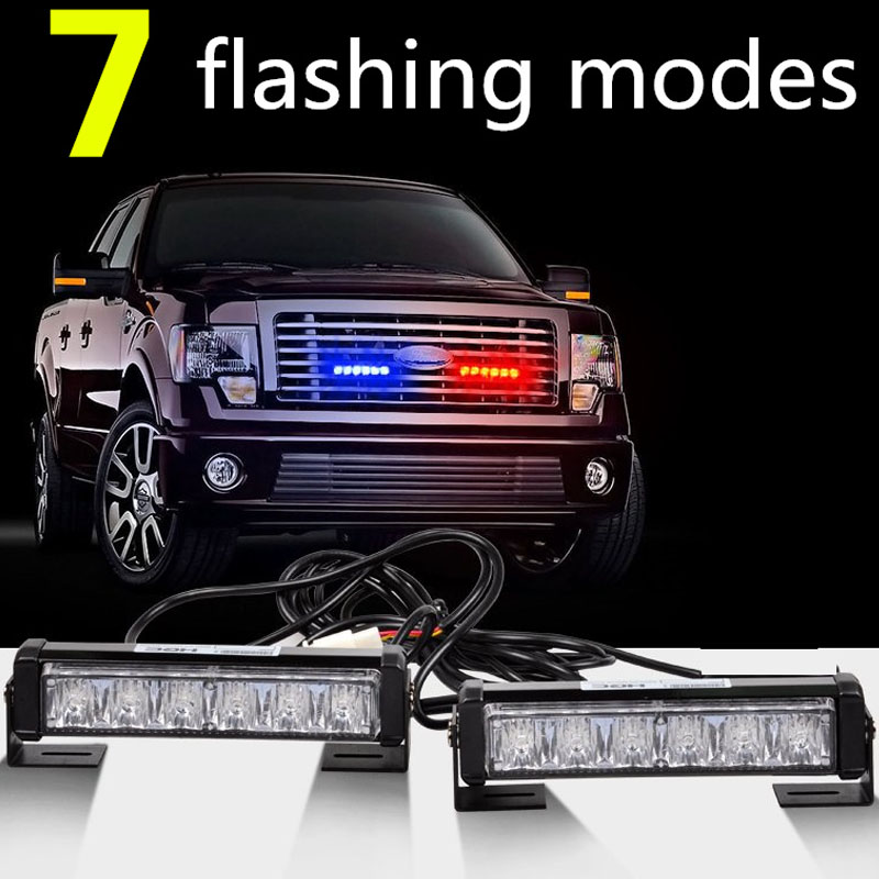 High Power 36W 12v Strobe Warning Light Bar Trailer Marker Daytime Running Lights Amber Red Blue Led Police Emergency Light<br><br>Aliexpress