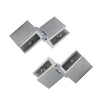 2pcs 90 Degree Adjustable Glass Hinge Fit 6-8mm Cabinet Door Hinges for Bathroom Shower Zinc Alloy Glass Hinge Clamps