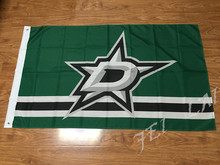 NHL Dallas Stars Flag 3x5 FT 150X90CM Banner 100D Polyester flag , free shipping