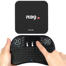 Docooler R39 Smart Android 6.0 TV Box RK3229 4K 1G/8G Mini PC WiFi H.265 HD Media Player QWERTY Keyboard Touchpad Mouse US Plug(China)