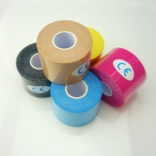 5PCS 5cm*5m Roll Sports Safey Strap Kinesiology Tape Tennis Physio Muscle Strain Injury Support Muscles Care Sticker Knee Pads