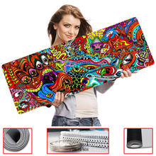 MaiYaCa Computer Speed Mouse Pads drawing colorful psychedeli Gaming Overlock Edge Mouse Pad Rubber Gamer Soft Comfort Mouse Mat