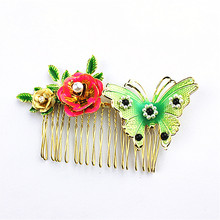 The new woman jewelry wholesale girl pop birthday party gifts luxury jing jing claw type flower butterfly hairpin agent shipping