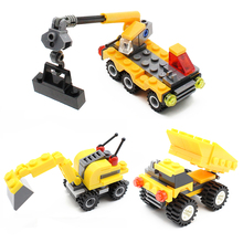 KAZI 8048/8049/8050 City Series Urban Construction Engineering Team Dumpers Building Blocks Bricks Toys for Children Kids Gift