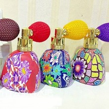 10ml Color Gasbag Polymer Clay Bottle Perfume Vials Glass Jars with Lids for Perfume Shop 10pcs/lot DC097