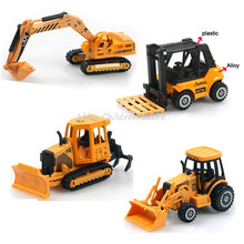 Hot Wheels Toy Mini Car Toy Car Model Plastic Alloy Excavator Truck Model Learning Educational Kids Toys Birthday Gifts