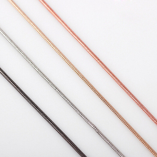 Free shipping high quality popular silver gold rose gold necklace floating locket chains Snake Chain