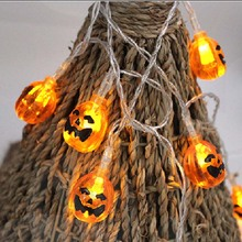 Pumpkin bat spider Skull led String lights lighting Lanterns for Halloween Holiday Party Decoration battery operated warm white