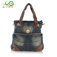 MLITDIS 2017 new winter denim Couture internal spacer bag cover type portable Shoulder Satchel(China)