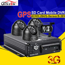Gision Platform Free CCTV Real Time Monitoring System IR Night Vision CCD Camera For 3G GPS Realtime View 4CH Car Dvr Mdvr Kits(China)