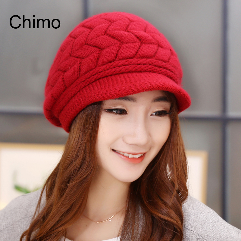2016 Fall Winter Beanies Knitted Hats Rabbit Fur Cap Snapback Cap Ladies Female Fashion Skullies Elegant Women HatsÎäåæäà è àêñåññóàðû<br><br><br>Aliexpress