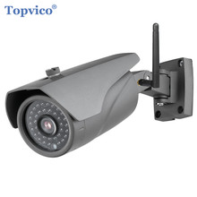 Topvico Outdoor Wireless IP Camera WIFI 720P 1.0 MP 36PCS LED ONVIF P2P Plug Play Video Surveillance Cam HOME Security Camera(China)