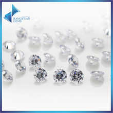 200pcs 0.8~4mm 5A Sample White Round Machine Cut Lab Created Loose Cubic Zirconia CZ Stone Synthetic Gems For Jewelry DIY(China)