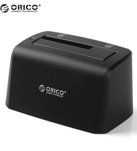 ORICO 8619US3 Super Speed USB 3.0 SATA Hard Drive Docking Station for 2.5- inch & 3.5- inch HDD SSD -Black