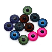 9mm BJD Eyes Iris Acrylic Doll Eyes Flat Round Multicolor Toy Animal Eyes for Diy Doll Puppet Making Accessories- 50pcs/lot(China)