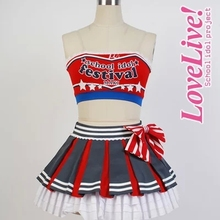 2015 Love Live Cosplay Costume Nishikino Maki Cheerleading Uniforms any size Customized full set for female