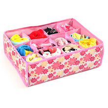 Hot Sale!!New Home Organizer  Box Underwear Socks Closet Drawer Divider Box 12 Cells