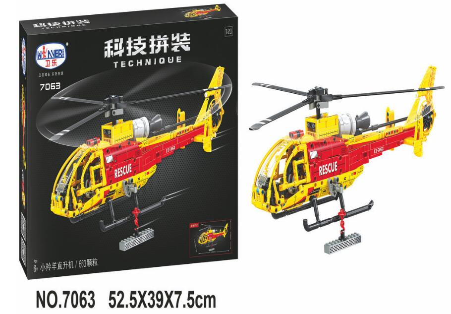 7063 Lepin Technic Helicopter building bricks blocks toys for children Boy Game Bela<br>