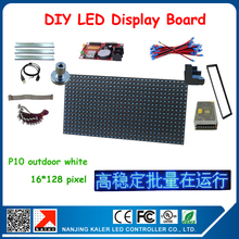 24*136cm moving text led sign board support multi-language p10 blue color led display screen with all diy kits installation tips