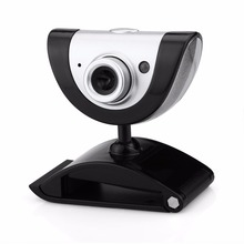Digital Rotatable USB HD Webcam Built-in Microphone for Skype Instagram Video Call in Laptops Desktop PC with LED Light