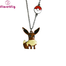 Floretfig pokemon pokeball necklaces eevee pendant friendship ID jewelry badges - FloretFig Franchised Store store