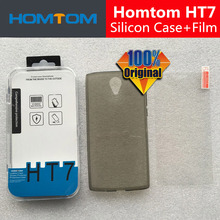 Homtom HT7 Case + Tempered Glass Scree Protector Film 100% Original Official Silicon Case For Homtom HT7 Pro Mobile Phone