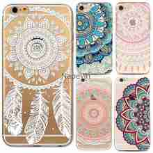 Phone Cases for Apple iPhone 6 6S 5 5S SE HENNA DREAM CATCHER Paisley Flowers Mandala Soft Silicon Cover Fondas Coque Capa Case