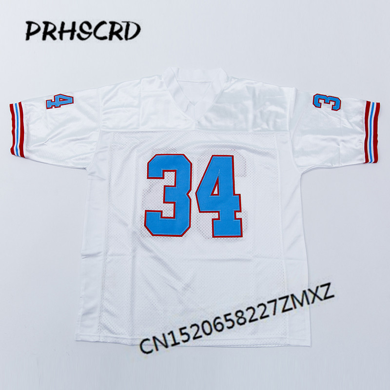 Retro star #34 Earl Campbell Embroidered Throwback Football Jersey(China)