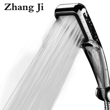 HOT Bathroom High Pressure Shower Head 300 Holes With Chrome Square Rainfall Handhold Shower Head Water Saving Sprayer ZJ001(China)