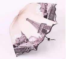 Romantic tower vinyl shade sunscreen thirty percent wavy edge mushroom Apollo princess  umbrella
