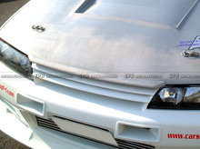 FRP Fiber Glass Car Styling Hood Bonnet Lip Chin Valance Fin Add On Tuning Parts For Nissan Skyline R32 GTR GTS