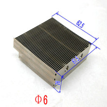 computer Aluminum fins heat sink 62.5* 61.5 *26mm ,Apply to diameter 6mm heatpipe