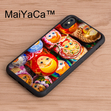MaiYaCa Russian Nesting Dolls Printed Back Phone Case For iPhone X Soft TPU Case For iPhone X Cover Protective Shell(China)