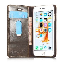 CaseMe Original For Apple iphone 5 5s SE Flip Case Vintage PU Leather Magnetic Wallet Bag Cell Phone Cover Case With Card Slot(China)