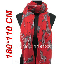 New Style Fashion Women's Zebra Animal Print Scarf Shawl Wrap 180cm*110cm, Free Shipping