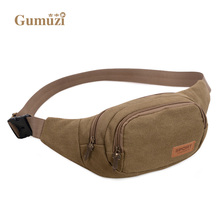Hot Sale High Quality Canvas Waist Packs Men Belt Bag Portable Men And Women Waist Bags 2017 Free Shipping 503#