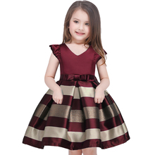 Buy Baby Girl Princess Dress Kids Bow tie stripe Dresses Toddler Girl Children European American Fashion Clothing for $13.35 in AliExpress store