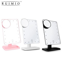 Rectangular 20 LED Lighted Vanity Mirror Touch Screen Battery Powered Makeup Mirrors(China)